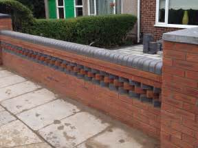 front garden brick wall designs unusual small gardens