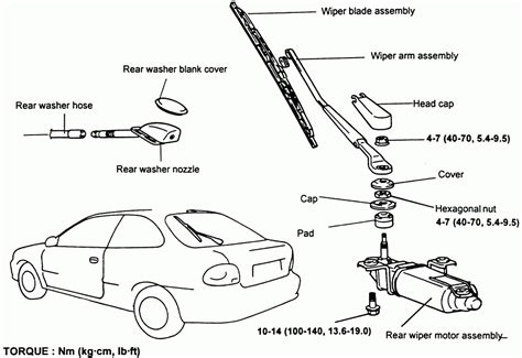 windshield wiper parts diagram wiring diagram and fuse box diagram