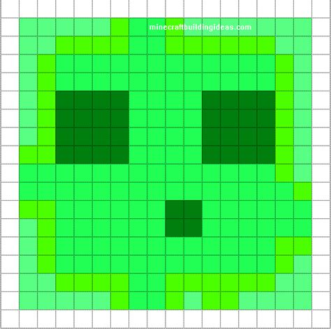 pixel template minecraft pixel templates slime