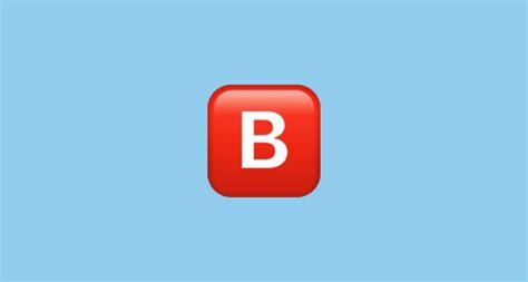 B Iphone Emoji Negative Squared Capital Letter B Emoji