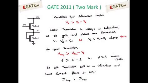 problem  mosfet gate  solved paper electron