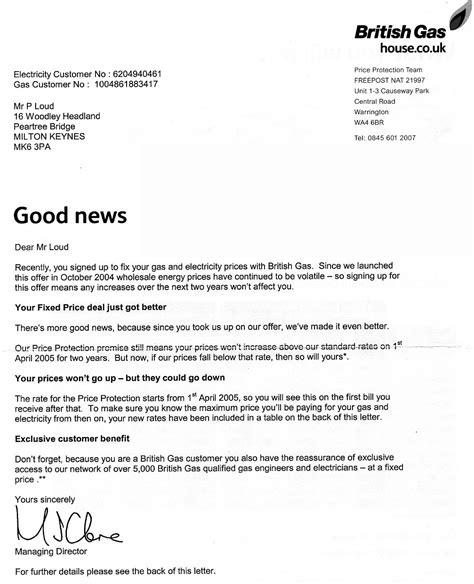 Letter Agreement And Gas Image Britain Letters