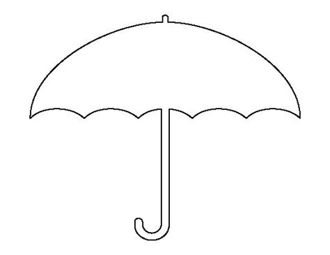 umbrella template umbrella pattern use the printable outline for crafts