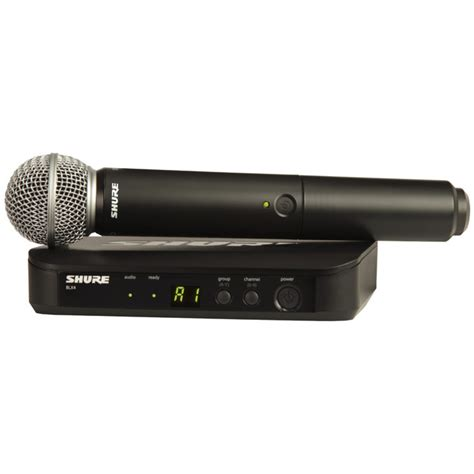 Shure Slx 24beta58 Wirelees Microfone shure blx24 sm58 handheld wireless microphone system at gear4music