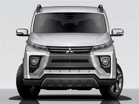 mitsubishi delica 2017 2018 mitsubishi delica front rendering indian autos blog