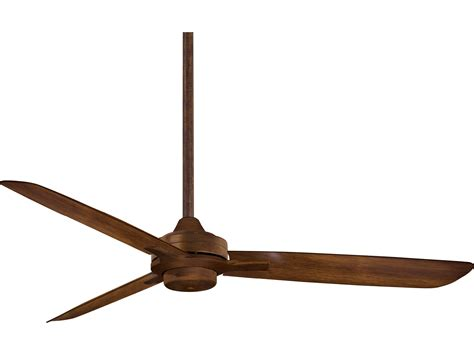 koa wood ceiling fan minka aire rudolph distressed koa 52 wide indoor ceiling