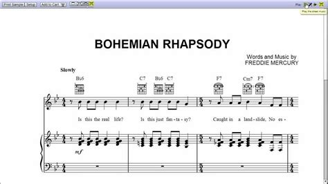 tutorial guitar bohemian rhapsody bohemian rhapsody by queen piano sheet music teaser