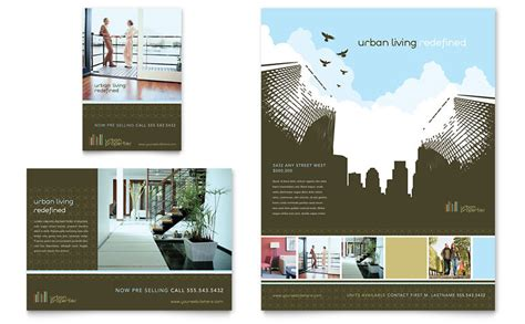 urban real estate flyer ad template word publisher