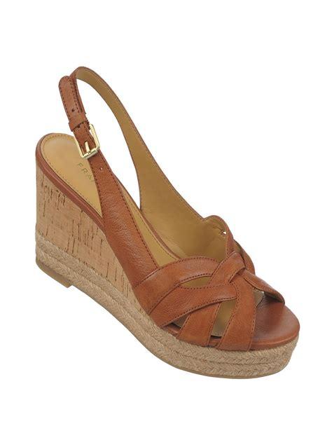 franco sarto brown sandals franco sarto kris leather wedge sandals in brown