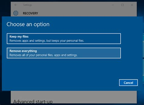 hp resetting your pc 1 how to wipe your pc with windows 10 bt