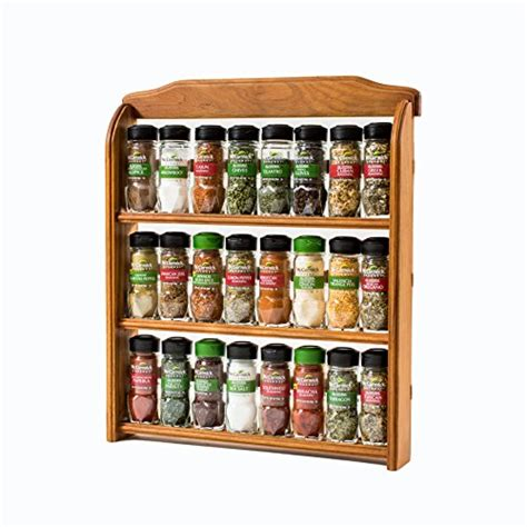 Spice Rack With Spices Mccormick mccormick gourmet wood spice rack 24 assorted herbs spices new ebay
