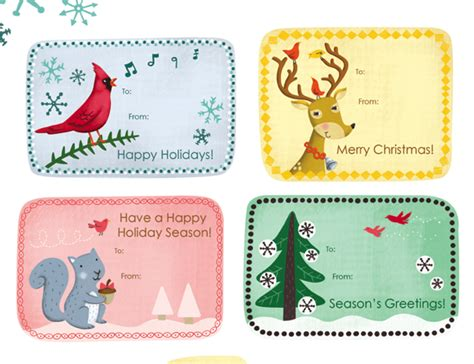12 free printable christmas gift tags