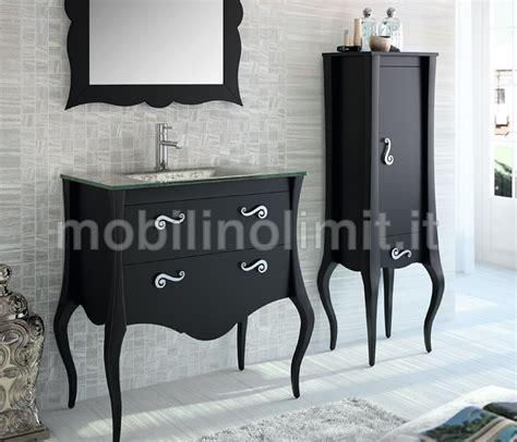 mobili bagno nero mobile bagno nero 2 cassetti con lavabo l 85