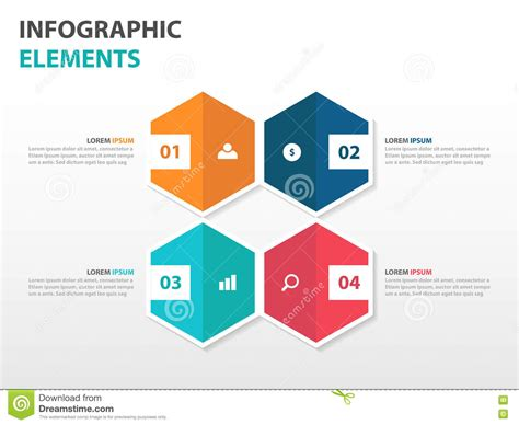 design elements when creating slides abstract 4 hexagon business infographics elements