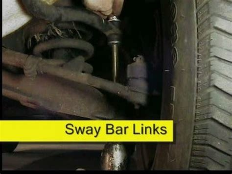 what does a broken sway bar link sound like and