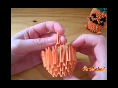 3d Origami Pumpkin - 3d origami pumpkin part 1 of 2