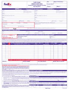 Bill Of Lading Template Canada by Fedex Commercial Invoice Pdf Fillable Fill