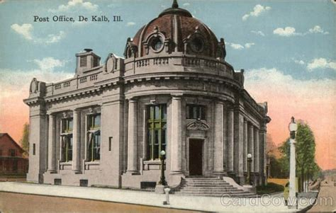 Dekalb Post Office by Colorized Version Of The Dekalb Il Post Office At