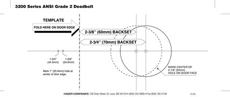 deadbolt template door backset template specifications sc 1 st