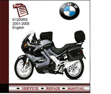 Bmw K1200rs 2001 2005 Service Manual Download Manuals