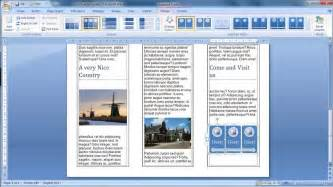 how to get brochure template on word make a brochure from scratch in word 2007
