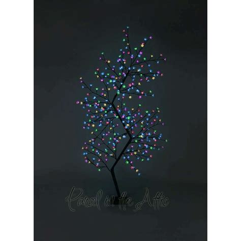 7ft outdoor led zig zag cherry blossom tree multi coloured led