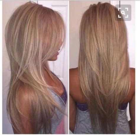 pictures of long layered hair with blonde chunks highlights hairstyle long pictures to pin on pinterest