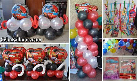 balloon decoration cars theme cars lightning mcqueen cebu balloons and supplies