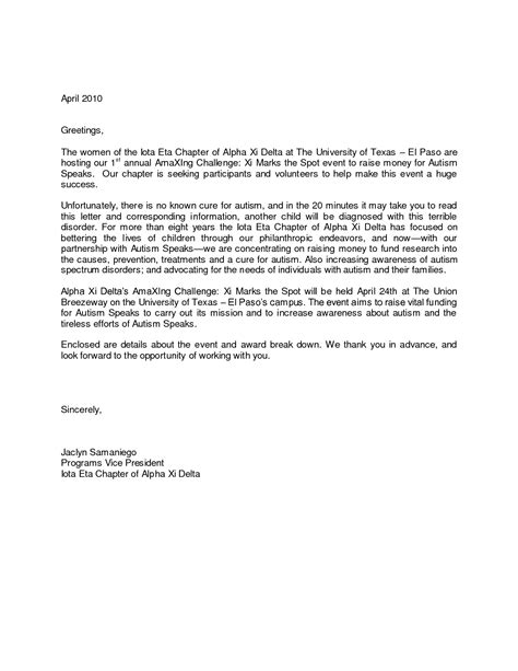 greeting  cover letter project scope template