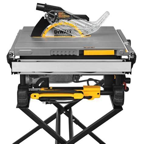 dewalt dwe7490x table saw with scissor stand