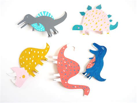Dino Cut printable dinosaur cut out toys handmade