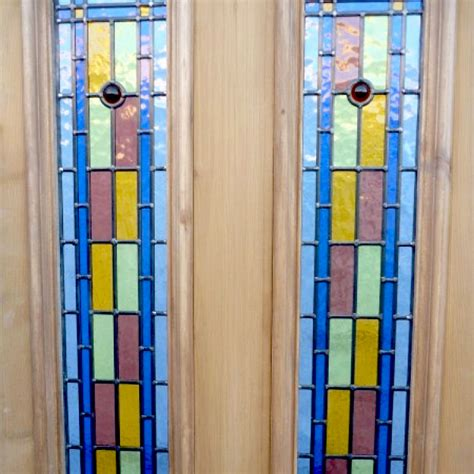 Bullseye Glass Door Bullseye 4 Panel Stained Glass Door Period Home Style