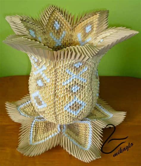 origami 3d fiori origami 3d mikaglo 25 waza lotos z origami 3d
