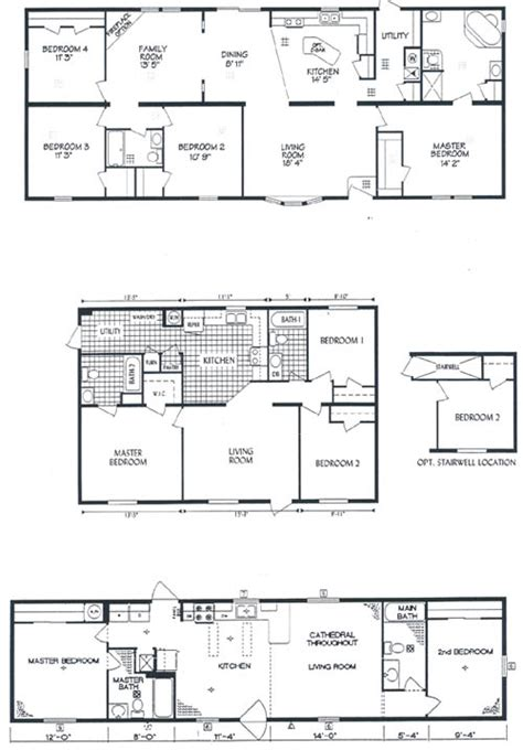 redman mobile home floor plans 171 home plans home design
