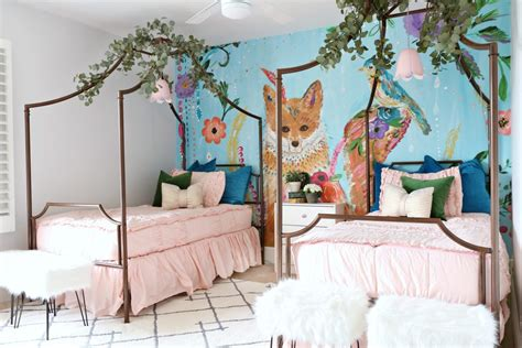 girls bedroom makeover colorful and cute classy clutter