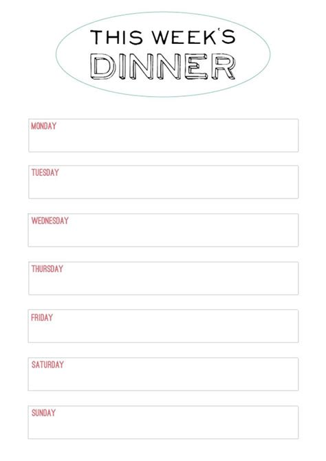 family dinner menu template family style dinner printable menu modern wifestyle