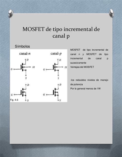 transistor mosfet tipo decremental tipos de transistores