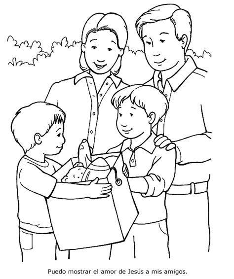 being a friend coloring page