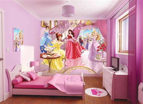 princess bedrooms beauty disney princess wallpaper for kids room on