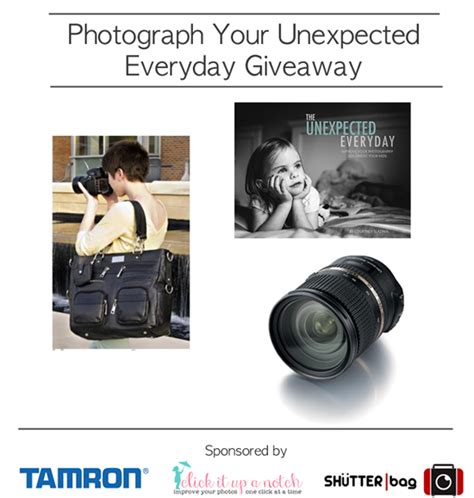 Everyday Giveaway - photograph your unexpected everyday giveaway