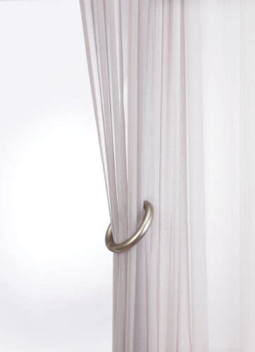 umbra drapery rings umbra halo drapery holdback nickel home garden decor