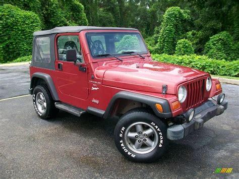 1998 chili pepper pearl jeep wrangler sport 4x4 10732500 gtcarlot car color galleries