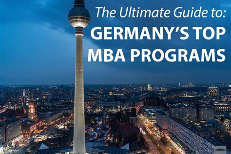 Mba In Germany In by The Best Mba Programs In Germany 187 Touch Mba