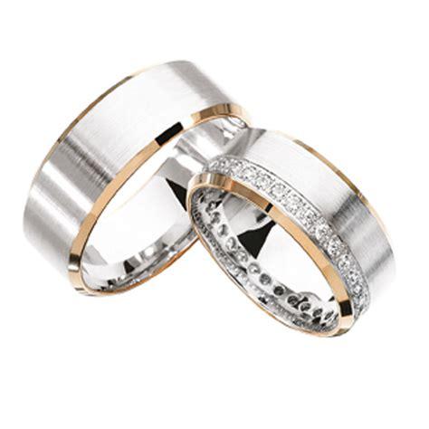 14k 2tone gold his hers matching diamonds wedding bands