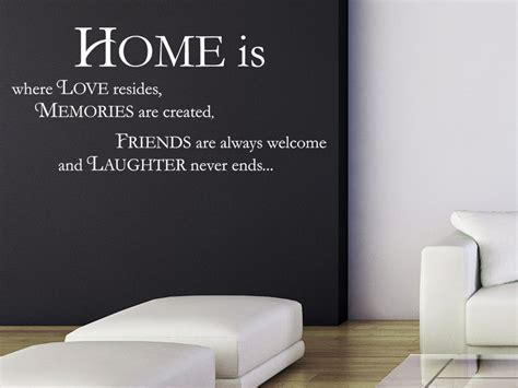 Home Is Where The Is by Wandtattoo Home Is Sprichwort Wandtattoo De