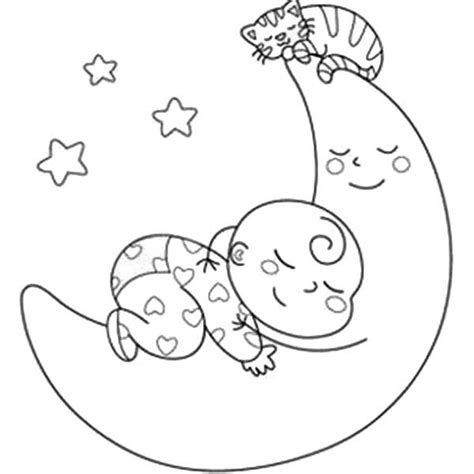coloring page baby sleeping baby coloring pages for download