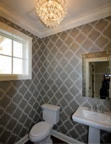 Wallpaper Ideas For Bathrooms Floor Bathroom Wallpaper Decorating Ideas