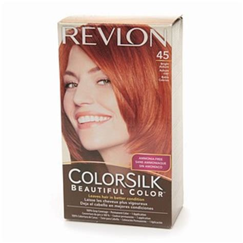 hair color for 45 revlon colorsilk 45 bright auburn haircolor wiki