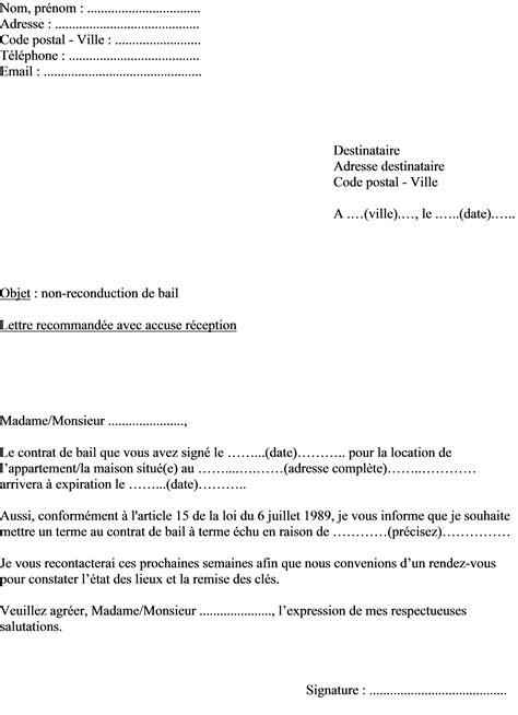 Mod Le Lettre De Motivation Kfc mod 232 le de lettre du propri 233 taire pour non renouvellement