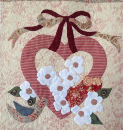 vintage valentine pattern appliqu 233 by janet beyea from the vintage valentine pattern